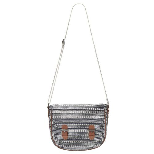 ANIMAL WOMENS BAG.NEW CHANCE NAVY WOVEN SHOULDER CROSS BODY HANDBAG 8S 316 F94